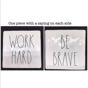 "Rae Dunn ""Be Brave/Work Hard"" Paperweight"